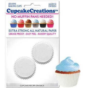 Cupcakes Creations Mini White: 60 Pieces per unit at £2.08 per unit. 12 units per carton.