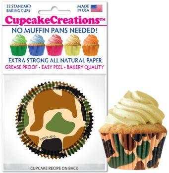 Cupcakes Creations Camo: 32 Pieces per unit at £2.08 per unit. 12 units per carton.