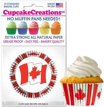 Cupcakes Creations Canadian Flag: 32 Pieces per unit at £2.08 per unit. 12 units per carton.