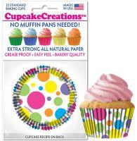 Cupcakes Creations 32 Piece Standard Rainbow Dots at £2.08 per unit. 12 units per carton.