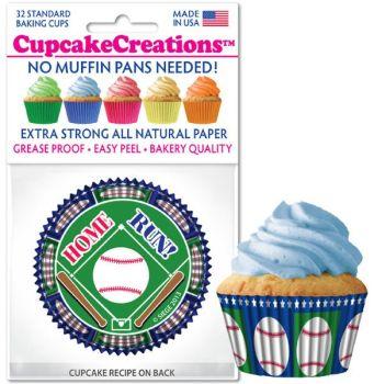 Cupcakes Creations Baseball Cupcake: 32 Pieces per unit at £2.08 per unit. 12 units per carton.