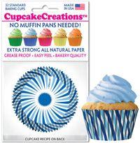 Cupcakes Creations Blue Swirls: 32 pieces per unit at £2.08 per unit. 12 units per carton.