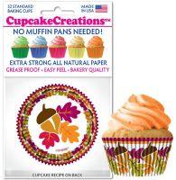 Cupcakes Creations Autumn Leaves: 32 Pieces per unit at £2.08 per unit. 12 units per carton.