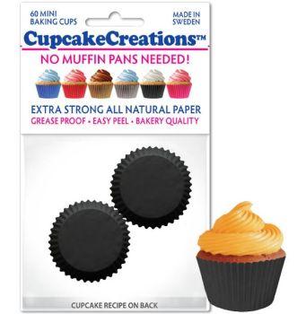 Cupcakes Creations Mini Black: 60 Pieces per unit at £2.08 per unit. 12 units per carton.