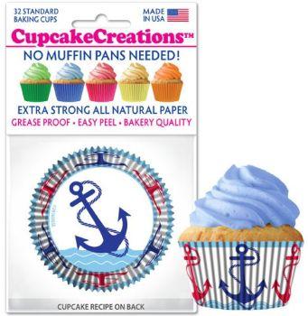 Cupcakes Creations Anchors: 32 Pieces per unit at £2.08 per unit. 12 units per carton.