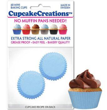 Cupcakes Creations Mini Light Blue: 60 Pieces per unit at £2.08 per unit. 12 units per carton.