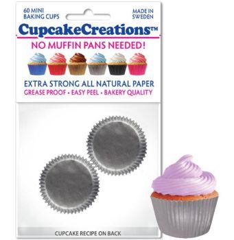 Cupcakes Creations Mini Silver: 60 Pieces per unit at £2.08 per unit. 12 units per carton.