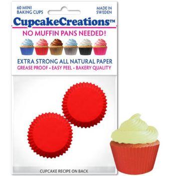 Cupcakes Creations Mini Red: 60 Pieces per unit at £2.08 per unit. 12 units per carton.