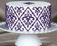 Marvelous Molds Filigree Damask Pattern Silicone Onlay®