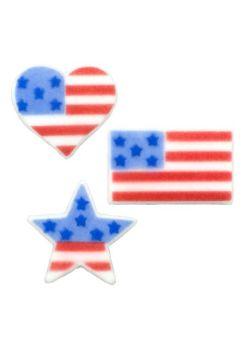 Lucks American Flag Assortment: 74 per box