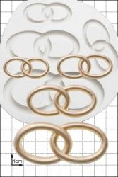 FPC Sugarcraft Wedding Rings Silicon Mould