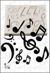 FPC Sugarcraft Musical Notes Silicon Mould