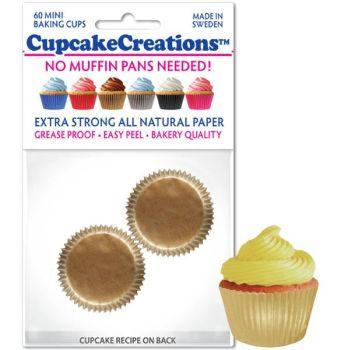 Cupcakes Creations Gold Mini Wrapper: 32 pieces per unit at £2.08 per unit. 12 units per carton.