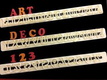 FMM Sugarcraft Art Deco Upper Case Alphabet and Number Set,