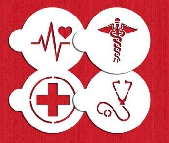 Designer Stencils Medical Symbols Cookie stencil