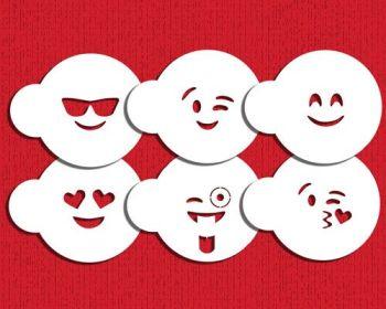 Designer Stencils Emoji Cookie Stencil Set