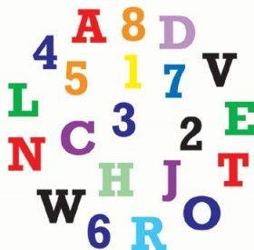 FMM Alphabet & Numbers Set Upper Case,