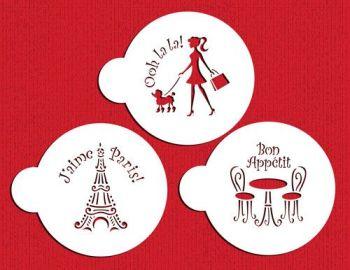 Designer Stencils I Love Paris Cookie Stencil Set