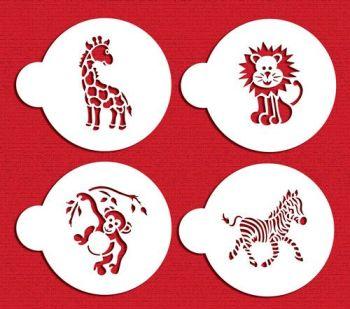Designer Stencils Jungle Animals Cookie Set