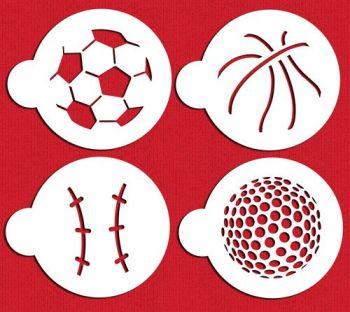 Designer Stencils Large Sports Ball Cookie Stencil