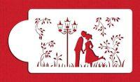 Designer Stencils Kissing Couple Silhouette Cake Stencil