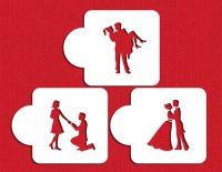 Designer Stencils Stage Of Love Silhouette Cakes Stencils