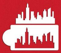 Designer Stencils New York Skyline Cake Stencil