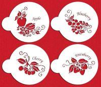 Designer Stencils Fruit Toppers Cake Stencil