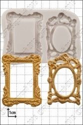 FPC Sugarcraft Picture Frames Silicon Moulds