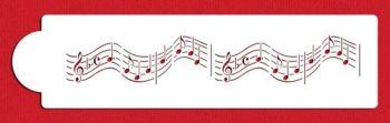 "Designer Stencils Musical Notes Border 12"" Stencil"