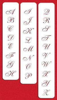 """Designer Stencils 1.25"""" Small Script Cake Stencil"""