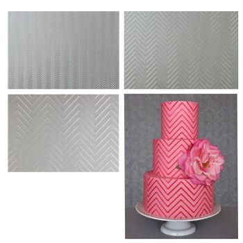 Sweet Elite Tools Chevron Pattern Texture Sheet Set: Minimum Order 3 units. £3.69 per unit