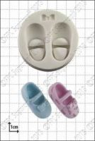 FPC Sugarcraft Baby Shoes and Bow