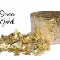 Crystal Candy: INCA GOLD edible sugarcraft flakes 6g