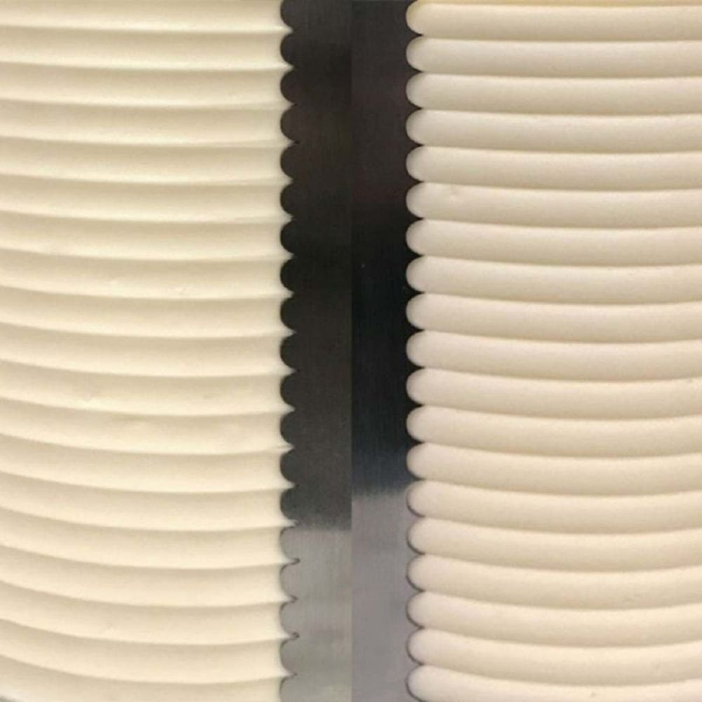 Evil Cake Genius: SCALLOPED SMALL double sided contour comb icing ganache s