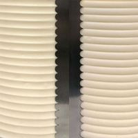 Evil Cake Genius: SCALLOPED SMALL double sided contour comb icing ganache smoother