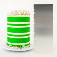 Evil Cake Genius: ALTERNATING Two Tone Stripe contour comb icing ganache smoother