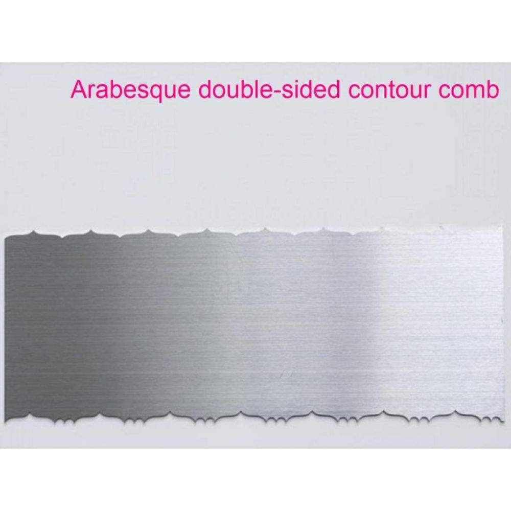 Evil Cake Genius ARABESQUE double sided contour comb icing ganache smoother