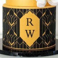 Evil Cake Genius: Art Deco Geometric Mix & Match Monogram cake stencil set #20