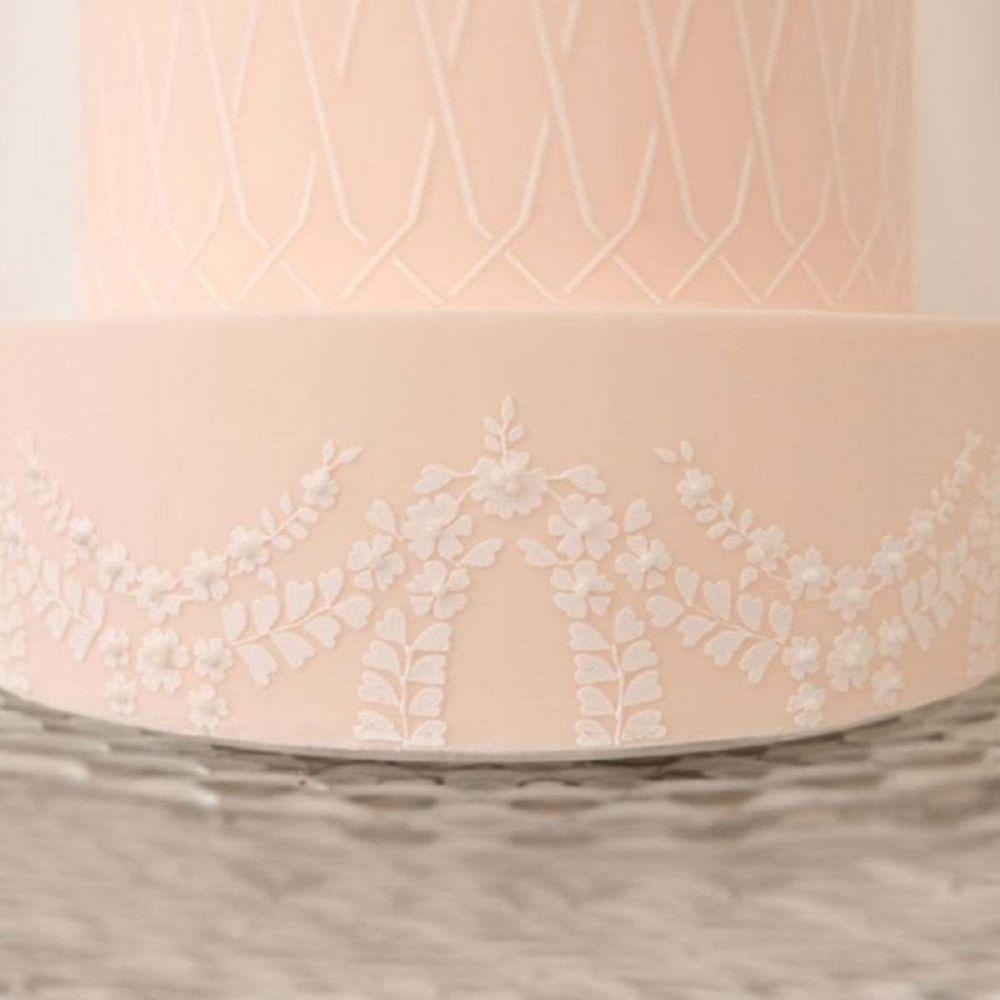 Evil Cake Genius: Garden Lace Garland professional cake stencil #21