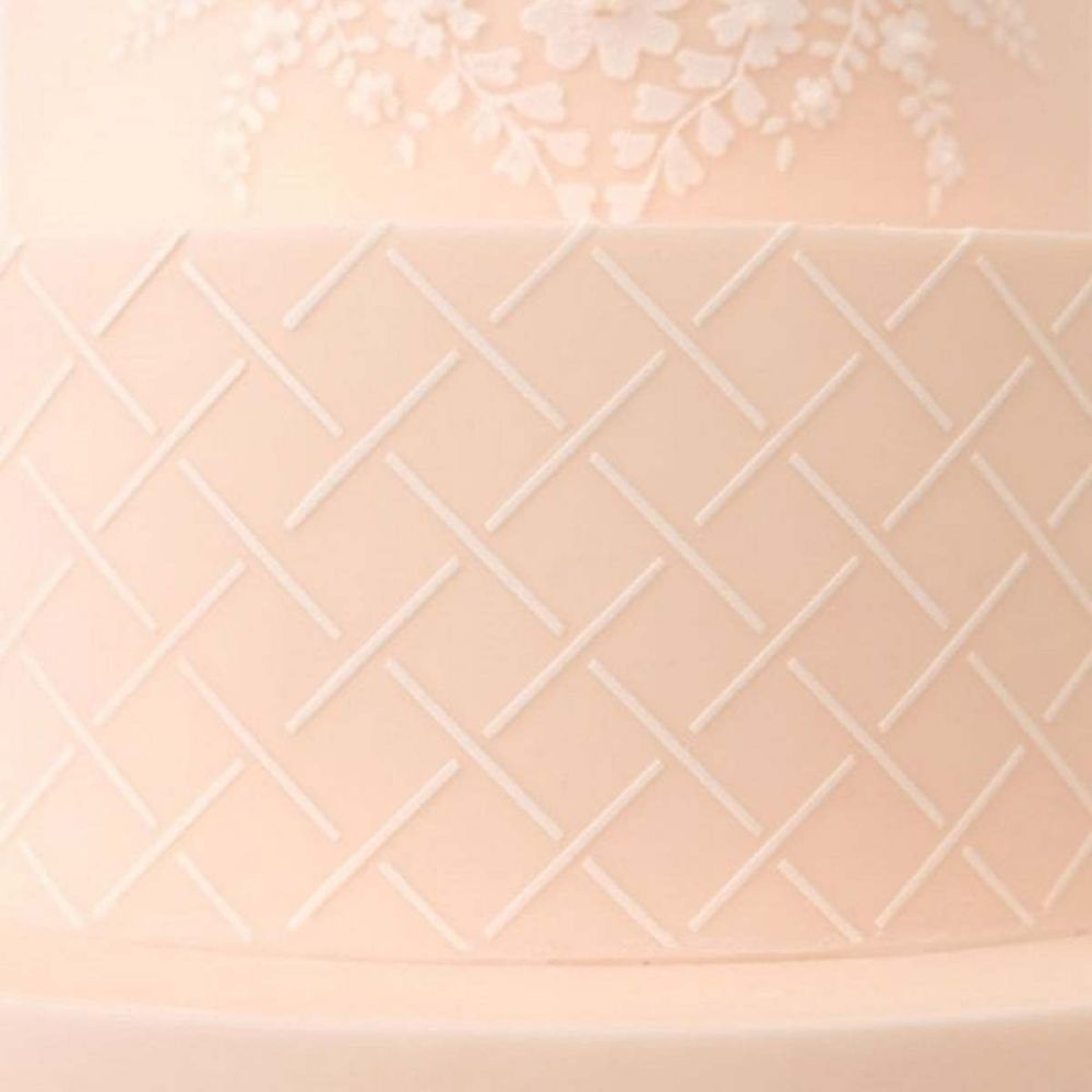 Evil Cake Genius: Little Lattice professional cake stencil #22