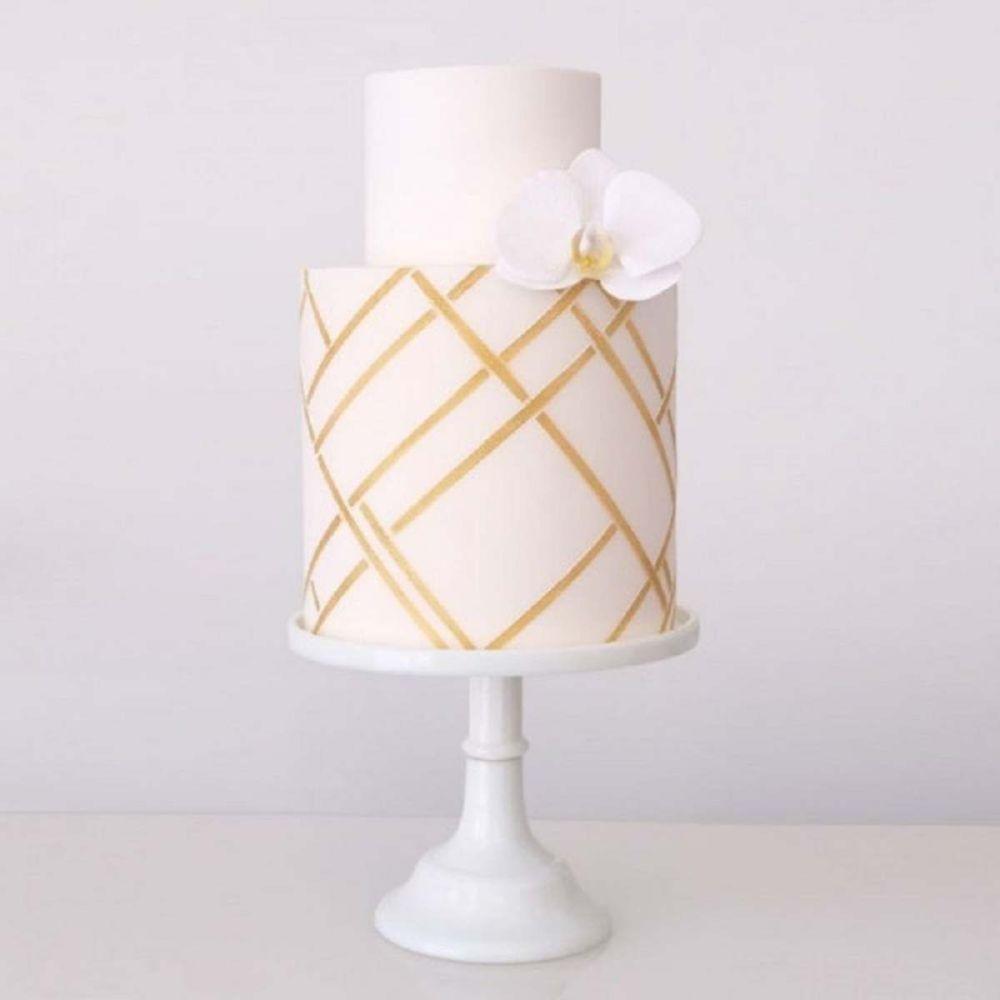 Evil Cake Genius: Modern Geometric double barrel professional cake stencil