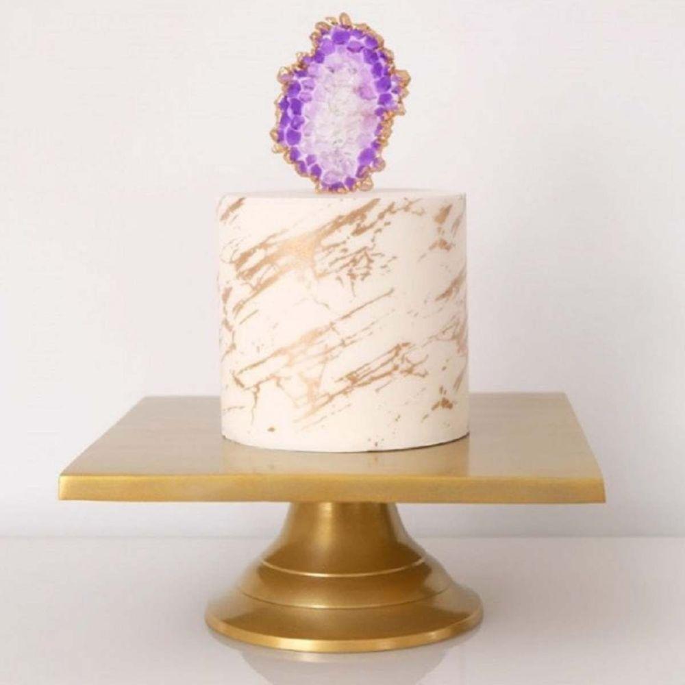Evil Cake Genius: Marble Veins mesh cake stencil #26