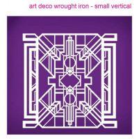 Evil Cake Genius: Art Deco Wrought Iron Vertical (small) mesh cake stencil #25