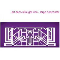 Evil Cake Genius: Art Deco Wrought Iron Horizontal (large) mesh cake stencil #27