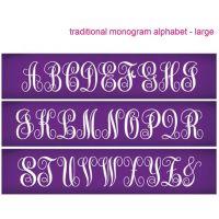 Evil Cake Genius: Traditional Monogram Large Alphabet mesh cake stencil set #33 - 57mm letters