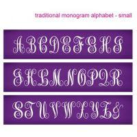 Evil Cake Genius: Traditional Monogram Small Alphabet mesh cake stencil set #32 - 46mm letters
