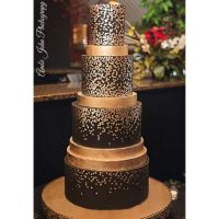 Evil Cake Genius: Dissipating Small Dots Shortened professional cake stencil #6SH
