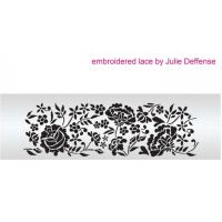 Evil Cake Genius: Embroidered Lace professional cake stencil set #7SH by Julie Deffense