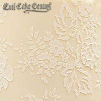 Evil Cake Genius: Chantilly Lace Leaf Shortened professional cake stencil #4SH